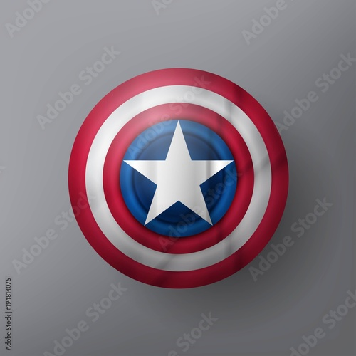 Shield with a star Canvas Print