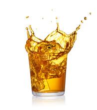 Glass Of Splashing Drink