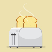 Good Morning Concept. Toaster ...