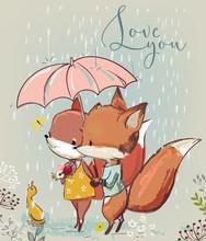Cute Fox With Duck