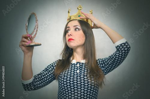 Fotografie, Obraz  Selfish woman
