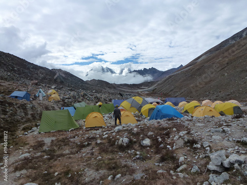 The Imja Tse, Island Peak, Base Camp, Everest Base Camp trek, Nepal Slika na platnu