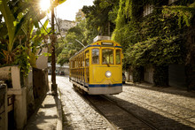 Old Yellow Tram In Santa Teres...