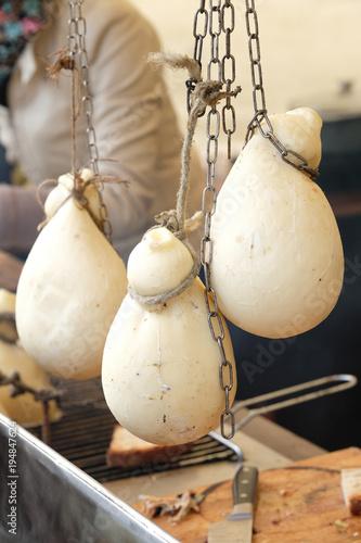 Caciocavallo italienischer Schnittkäse