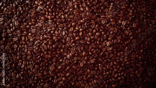 Canvas Prints Cafe top view of coffe beans Background full of cofe beans studio shoot