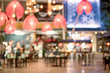 canvas print picture Blurred background of restaurant with people.Coffee Shop Blurred background.