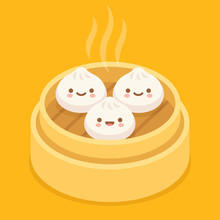 Cute Cartoon Dim Sum