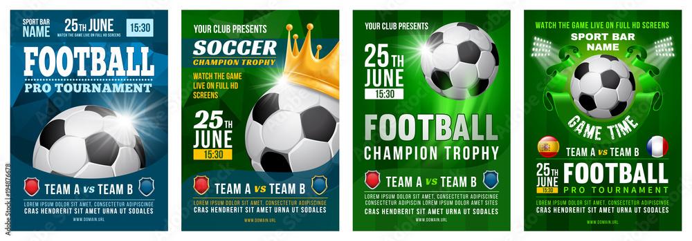 Fototapeta Football Poster Set