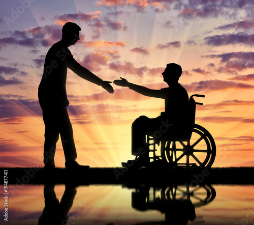 Valokuva  Concept of respect and assistance to people with disabilities in society