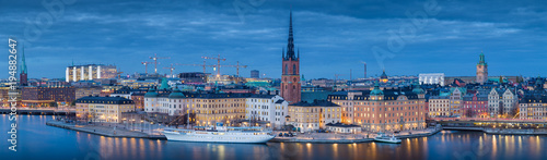 Staande foto Stockholm Stockholm skyline panorama in twilight, Sweden, Scandinavia