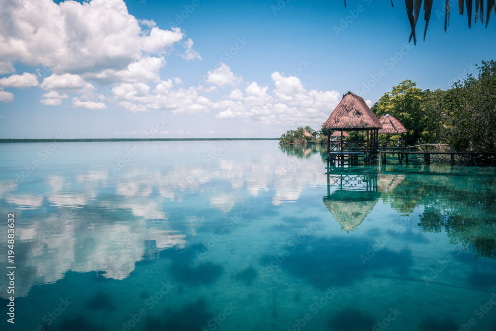 Fototapeta Lagoon in Mexico Bacalar