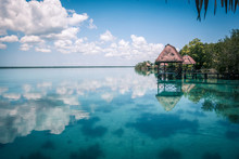 Lagoon In Mexico Bacalar