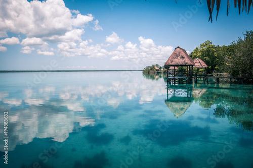Photo  Lagoon in Mexico Bacalar