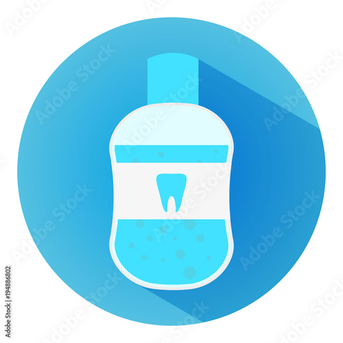 Mouth Wash Flat Icon With Long Shadow Symbol For Mobile User Buy