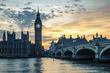 Westminster Bridge at sunset, London, UK - 194888206
