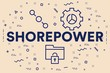 Conceptual business illustration with the words shorepower