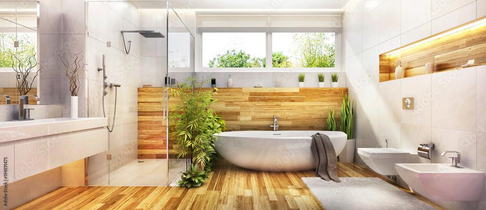 Fototapety, obrazy: Modern design bathroom