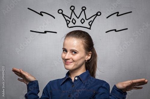 Young woman with crown Wallpaper Mural