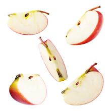 Set Of Freshly Slices Apples I...