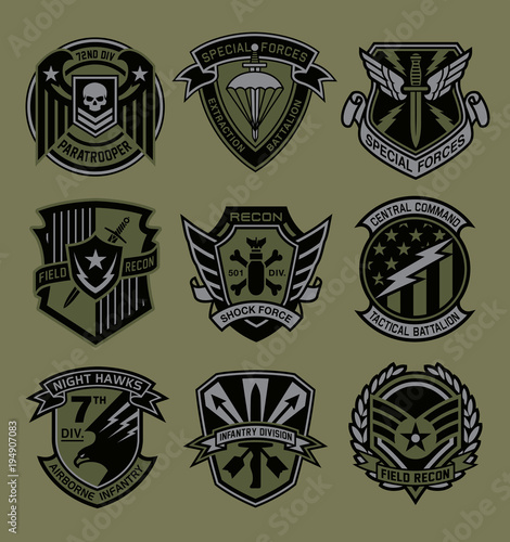 Fotografía  Military patch emblem badges