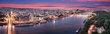 Aerial Panorama Of Bratislava,...