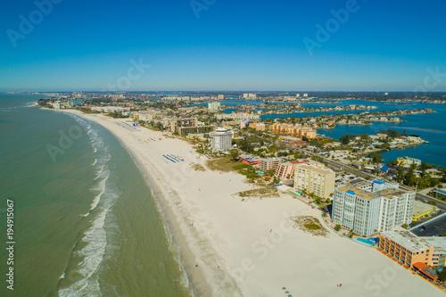 Drone aerial image St Pete Beach Florida USA Wallpaper Mural