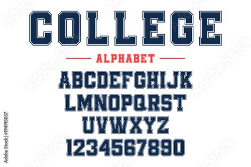 Fotografia Classic college font