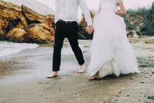 Wedding Couple Is Walking On T...