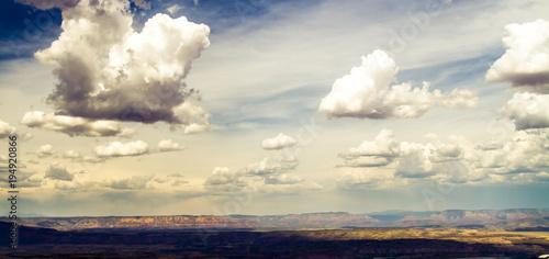Türaufkleber UFO Arizona landscape in the summer