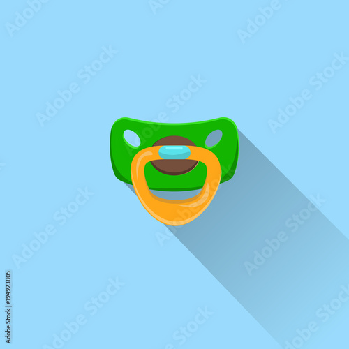 Baby Pacifier Icon, Dummy, Soother Or Teether Flat Vector Illustration Tapéta, Fotótapéta
