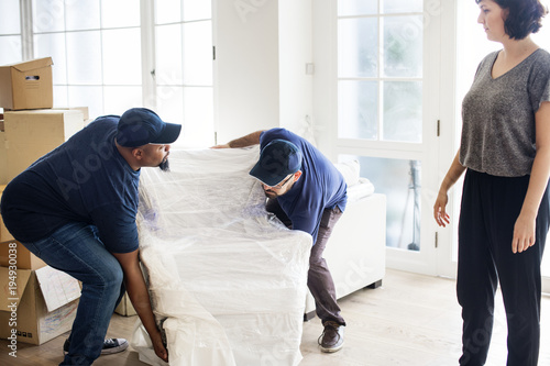 Fotografía Furniture delivery service concept