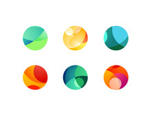 Abstract Circular Sphere Icons...