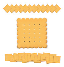 Set Of Cookie Isolated On White Background. Vector Illustration. Can Be Use For Your Design, Presentation, Promo. EPS10
