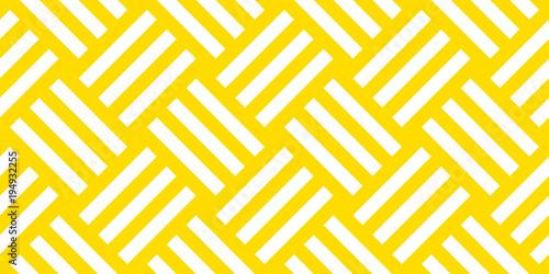 Cuadros en Lienzo Summer background diagonal stripe pattern seamless yellow and white
