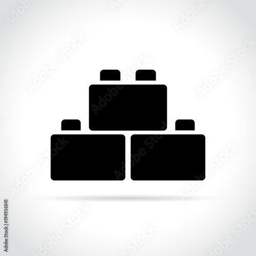blocks icon on white background Canvas Print