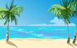 ocean coast. vector illustration