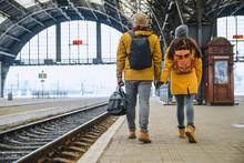 Couple At Railway Station Wiri...