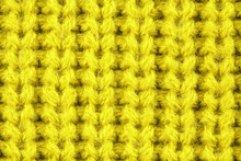 Yellow Wool Texture. Texture Of Wool. Knitting Natural Wool Yellow Background.