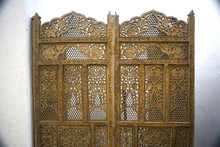Wooden Carved Screen Near The ...
