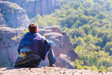 Man Looking At Mountains Panor...