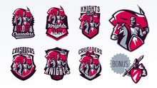 A Set Of Emblems, Logos, Stick...
