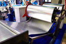 Rolls Of Sheet Metal On Indust...