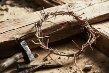 Crown Of Thorns Among Cross, H...