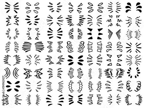 Fotografía  set of designs for text and inscriptions