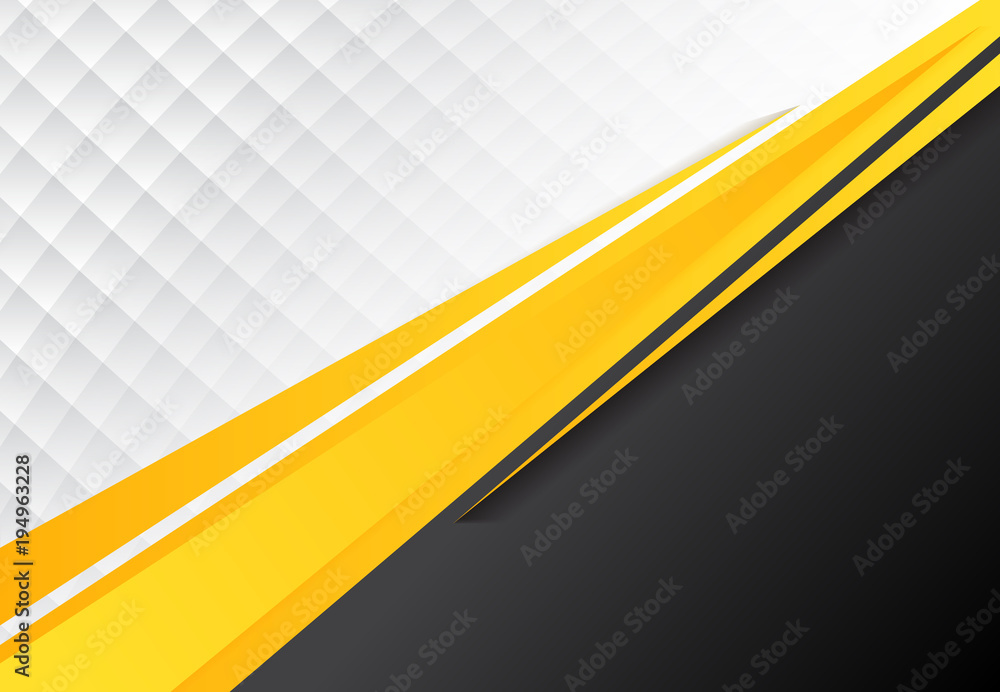 Fototapety, obrazy: template corporate concept yellow black grey and white contrast background.