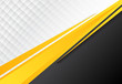 template corporate concept yellow black grey and white contrast background.