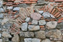 Stone Wall In Ohrid