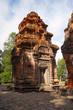 Temple Tower ruins, Prasat Preah Ko, Roluos, Cambodia. Circa Late 9th century