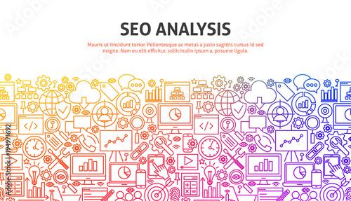 SEO Analysis Concept Canvas Print