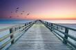 Seebrücke an der Küste